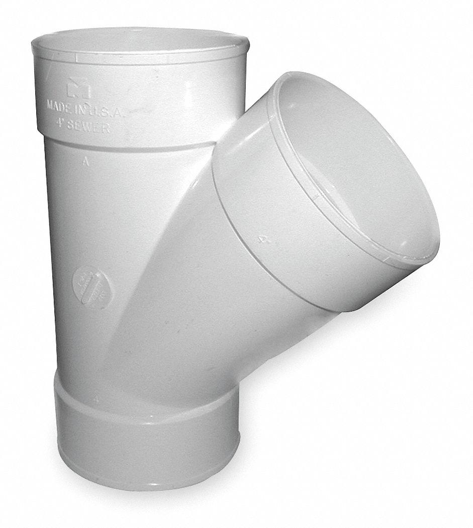 Mueller industries wye 6 in hub pvc pvc pipe fittings 1wjj9 1wjj9
