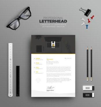 Asclepius Professional Corporate Letterhead Template
