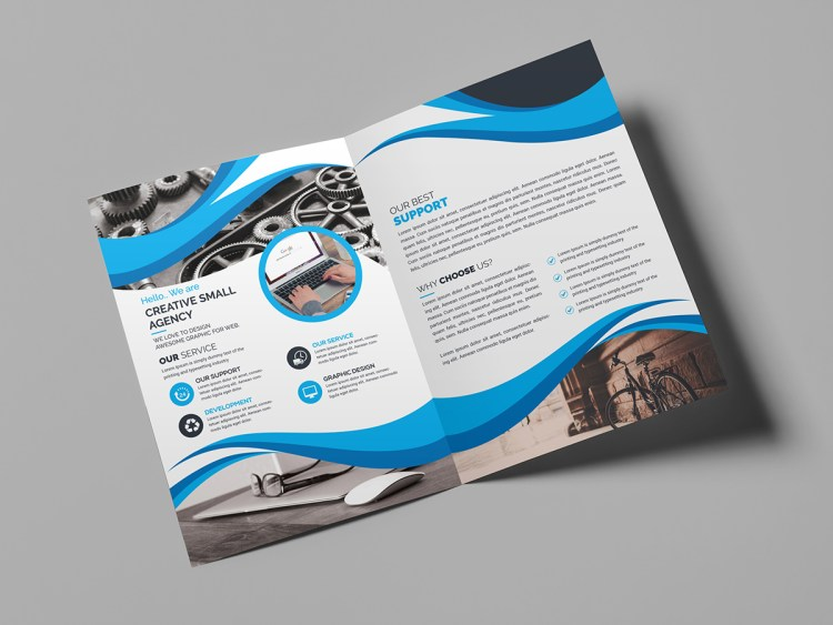 Bi Fold Creative Brochure Template