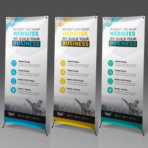 Construction Roll Up Banner Design Template