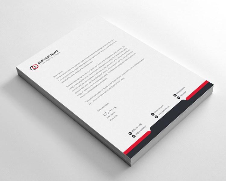Corporate Letterhead Template PSD