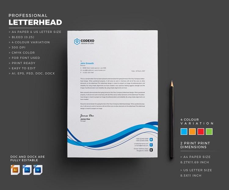 Letterhead Template Design