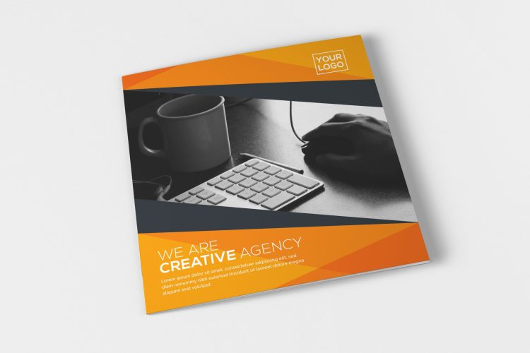 Square Tri Fold Business Brochure Design