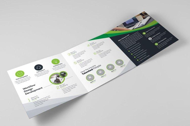 Square TriFold Brochure Template