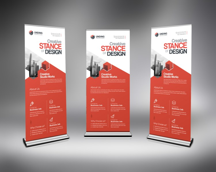 PSD Creative Pull Up Banner