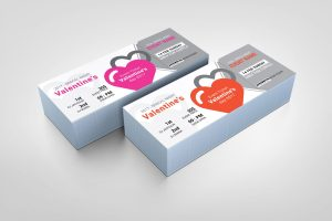 Valentines Event Ticket Design Template