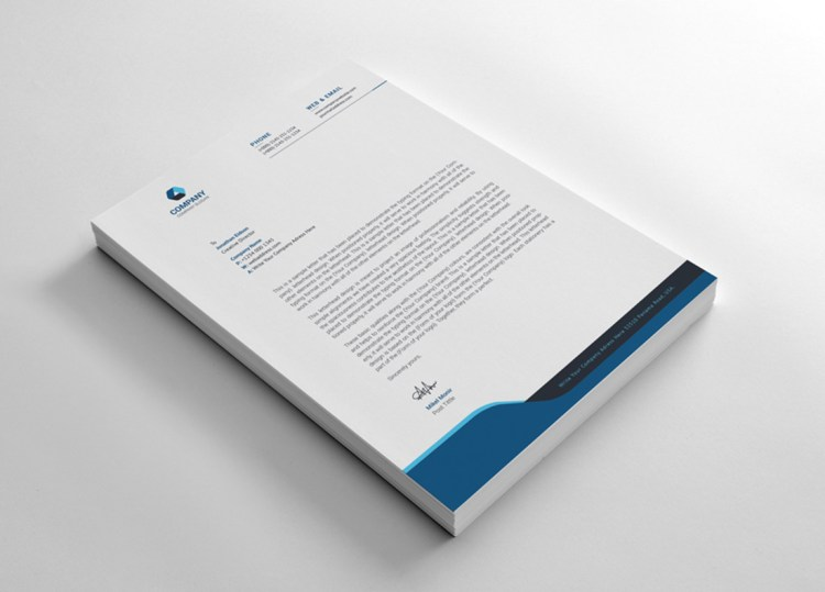 Corporation Letterhead Design Template