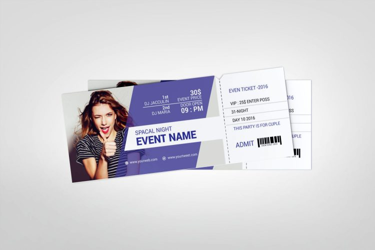 Couple Event Ticket Template