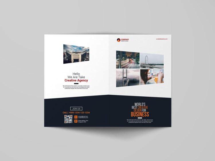 Elegant Bi Fold Booklet Template
