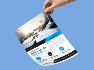 One Page PSD Flyer Template