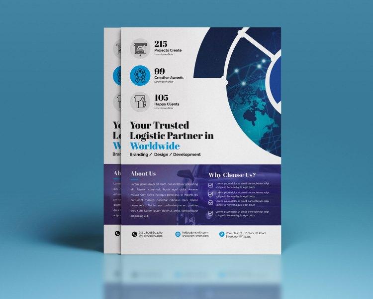 PSD Logistic Corporate Flyer