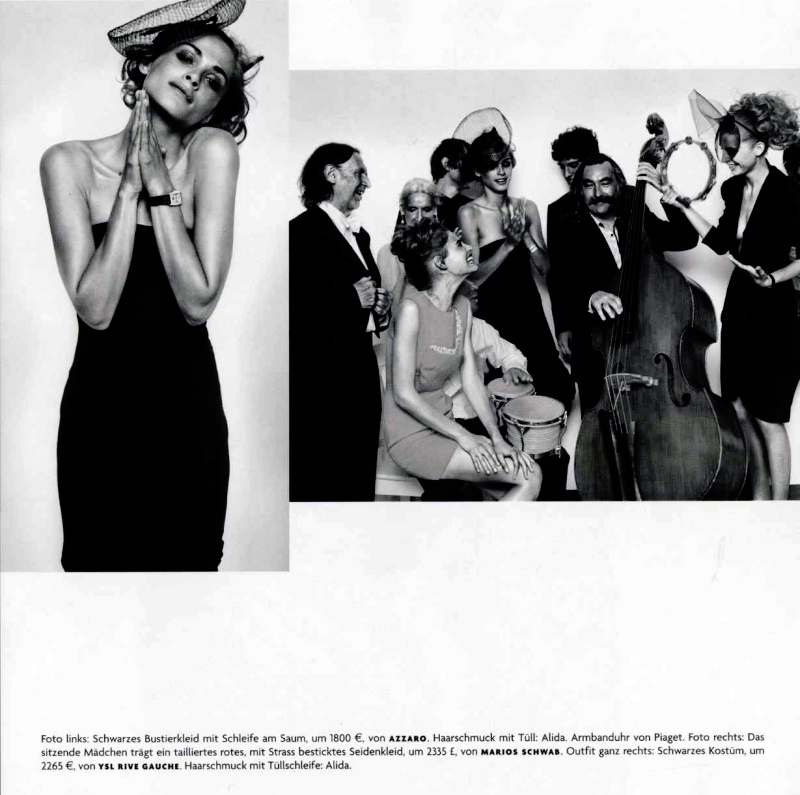 elisa009 Vogue Germany December 2009 | Elisa Sednaoui, Bianca Balti & Luca Gadjus by Vincent Peters