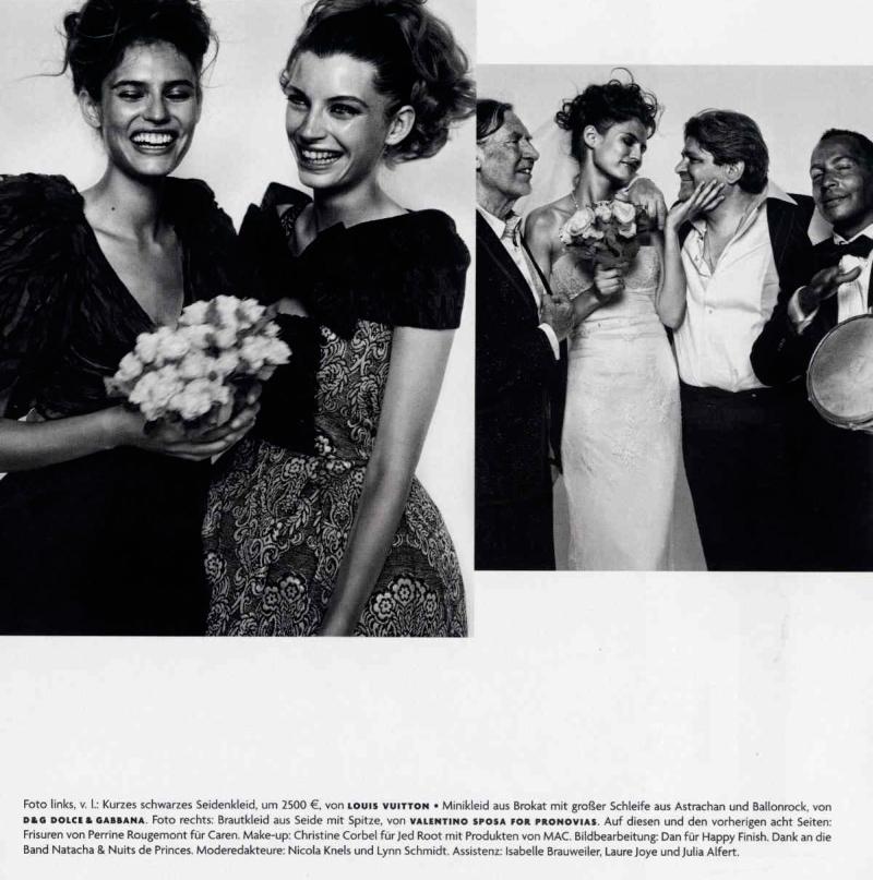 elisa010 Vogue Germany December 2009 | Elisa Sednaoui, Bianca Balti & Luca Gadjus by Vincent Peters