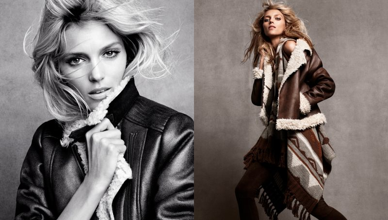 anja hm2 Anja Rubik for H&Ms Winter 2011 Collection