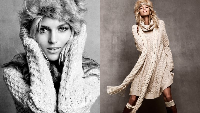 anja hm4 Anja Rubik for H&Ms Winter 2011 Collection