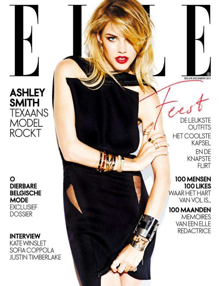 ashley smith2 Ashley Smith by Hicham Riad for <em>Elle Belgium</em> December 2011