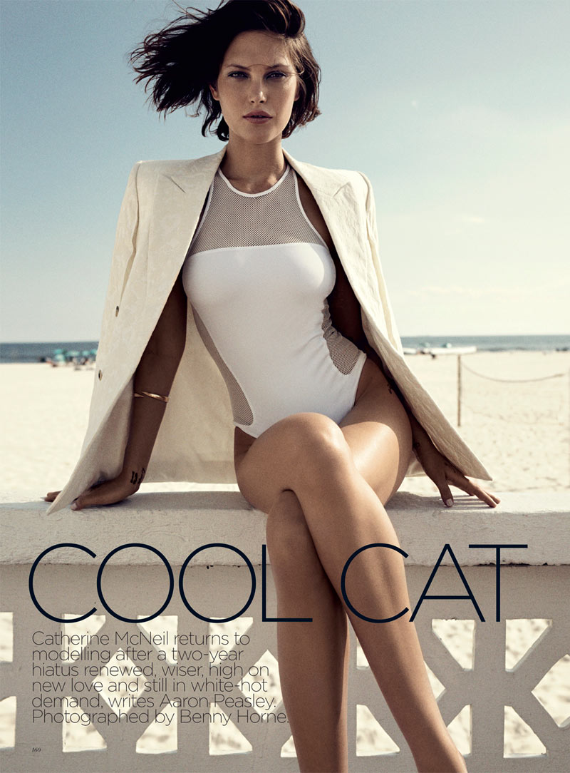 catherine mcneil1 Catherine McNeil Stays Cool for Vogue Australias November 2012 Cover Shoot by Benny Horne