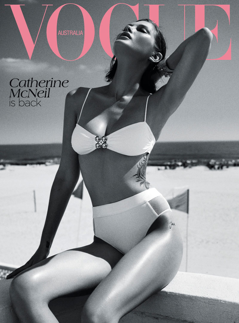 catherine mcneil11 Catherine McNeil Stays Cool for Vogue Australias November 2012 Cover Shoot by Benny Horne