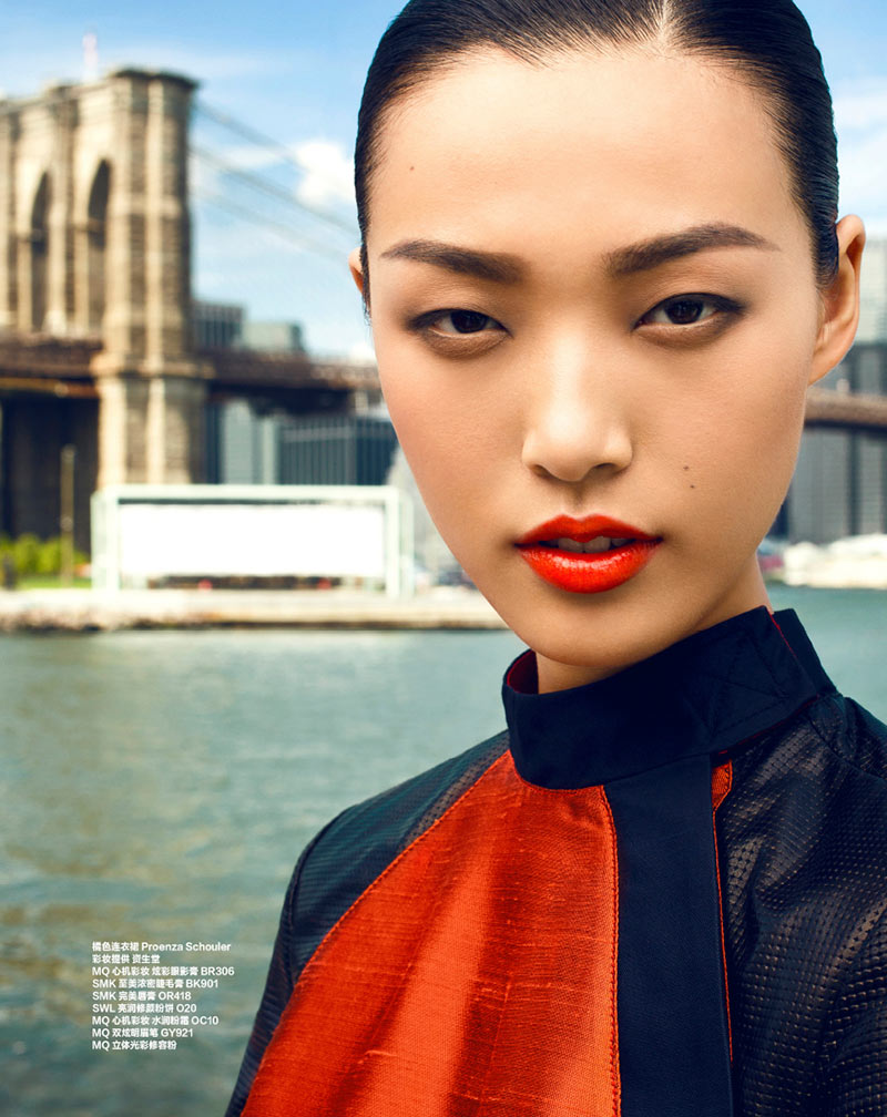 tian yi4 Tian Yi Goes Coast to Coast for the 26th Anniversary Issue of Harpers Bazaar China