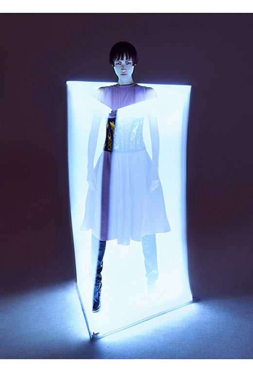 wang xiao11 Wang Xiao Lights Up for Harpers Bazaar China Art by Charles Guo