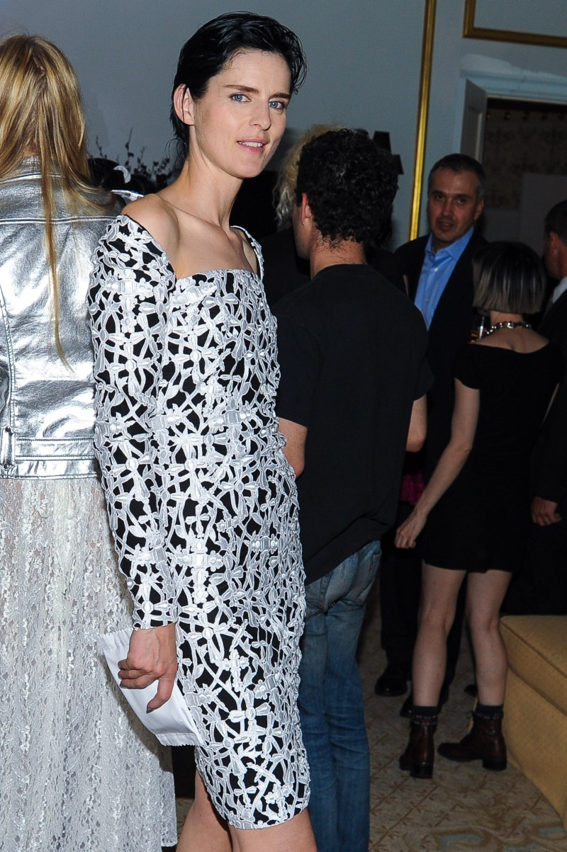 versace11 Doutzen Kroes, Lady Gaga, Coco Rocha and Others Step Out for Versaces SoHo Store Opening