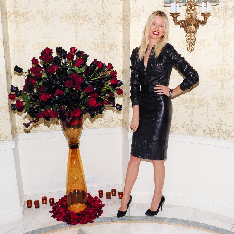 versace6 Doutzen Kroes, Lady Gaga, Coco Rocha and Others Step Out for Versaces SoHo Store Opening
