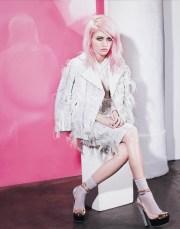 pink hair models