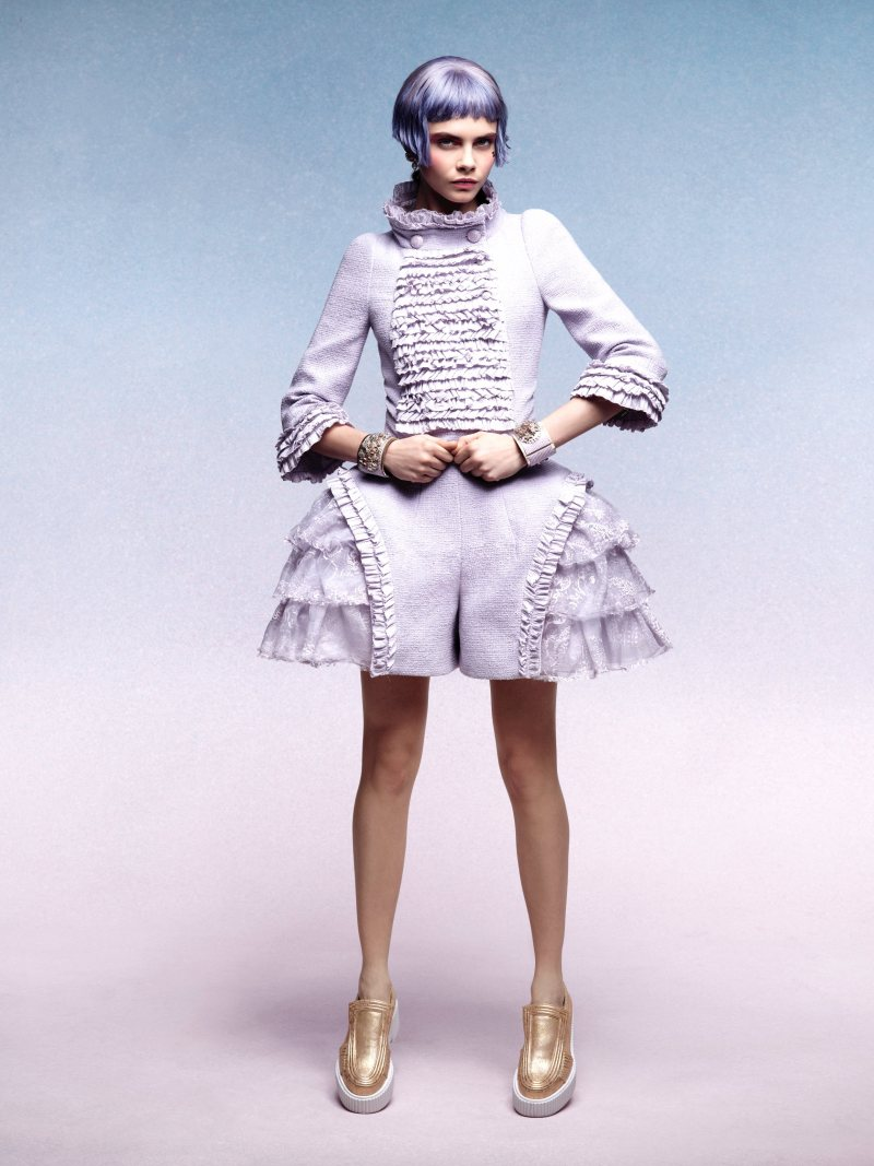 Cara Delevingne for Chanel Cruise 2013 by Karl Lagerfeld