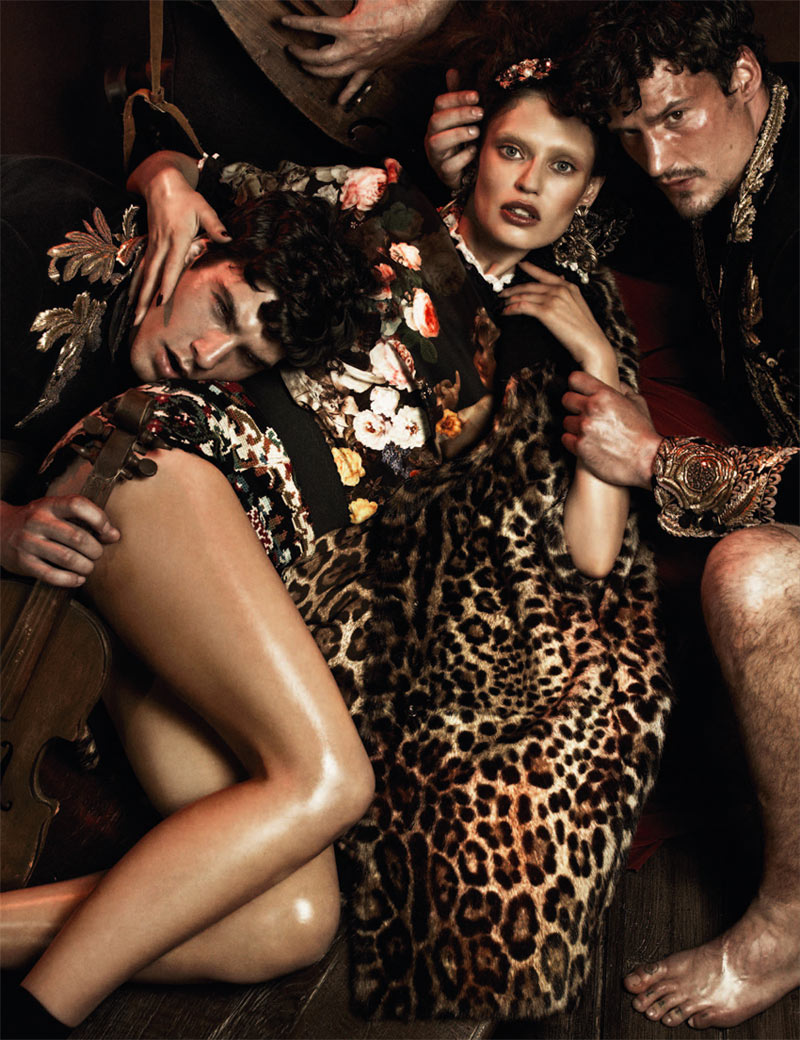 dolce3 Bianca Balti is a Baroque Goddess in Dolce & Gabbana for Interview Germany