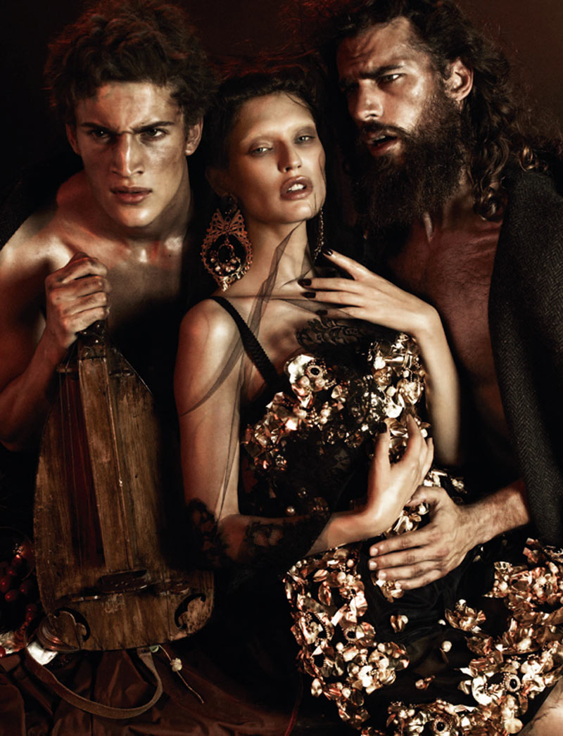 dolce4 Bianca Balti is a Baroque Goddess in Dolce & Gabbana for Interview Germany