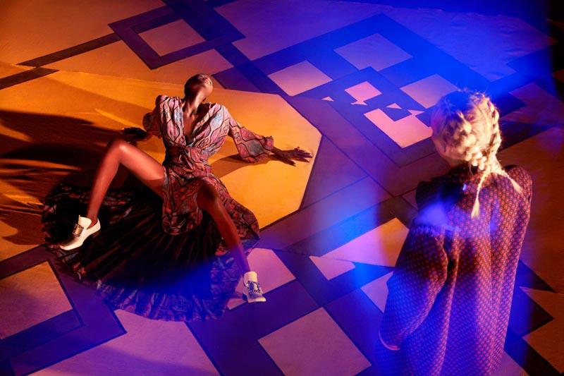 elle2 Andrej Pejic & Ataui Deng Take a Trip for Garage #3 by Elle Muliarchyk