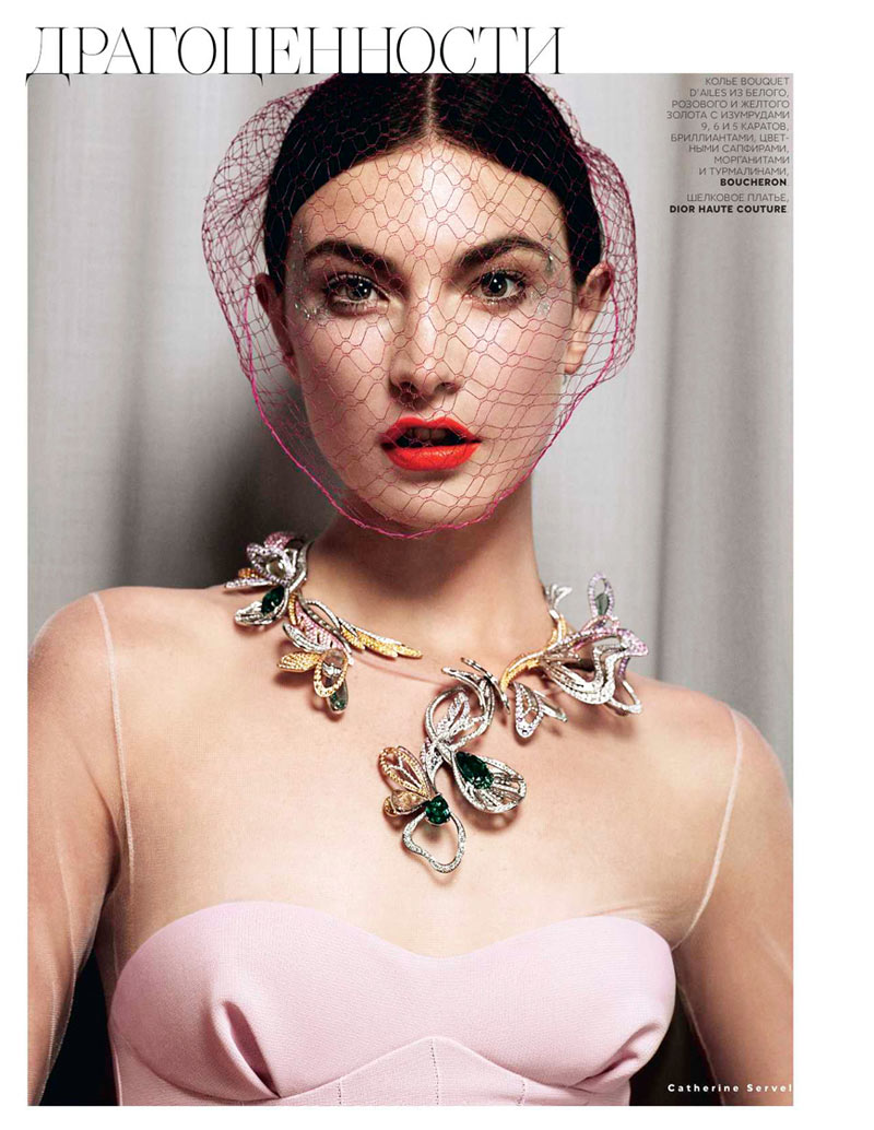 jacquelyn jablonski7 Jacquelyn Jablonski Shines in Couture for Vogue Russia October 2012 by Catherine Servel