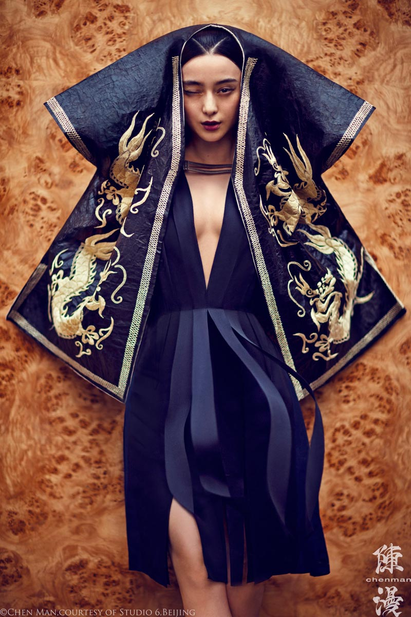 fan bing bing4 Fan Bingbing Poses for Chen Man in Embellished Style for i Ds Fall 2012 Issue