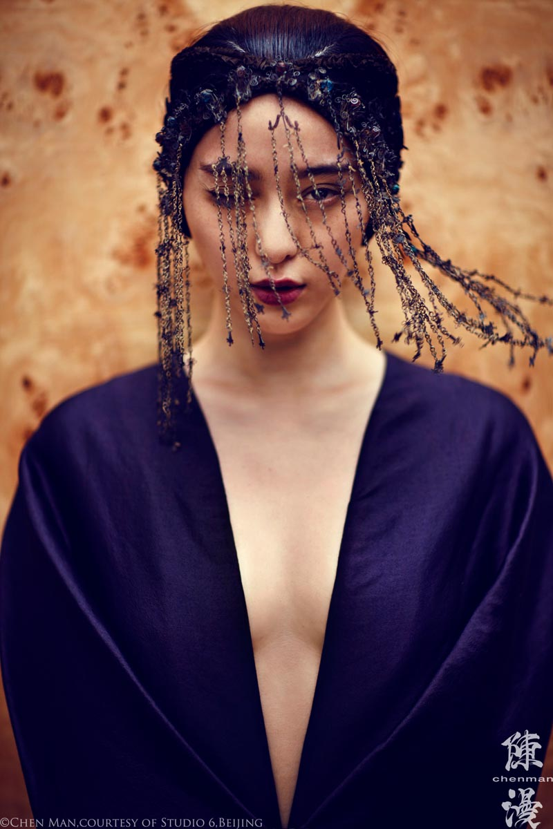 fan bing bing5 Fan Bingbing Poses for Chen Man in Embellished Style for i Ds Fall 2012 Issue