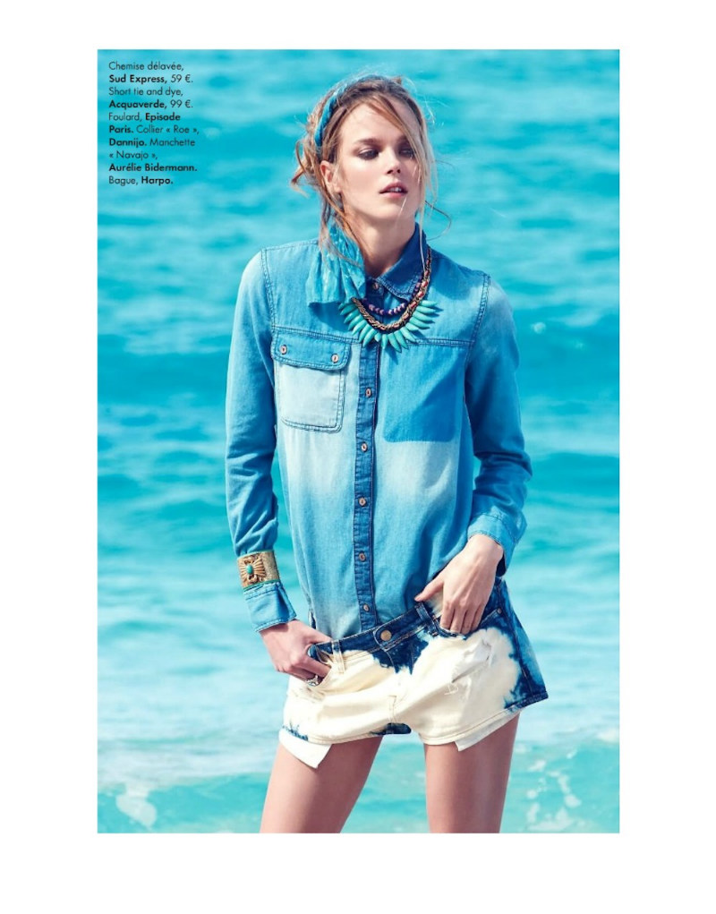 ShannanElle09 Shannan Click Dons Flirty Summer Looks for Elle France June 2012 by Nagi Sakai