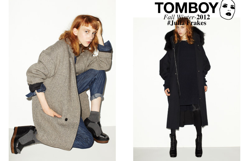 Tomboy08 Julia Frakes Gets a Casual Edge in the TOMBOY F/W 2012 Campaign