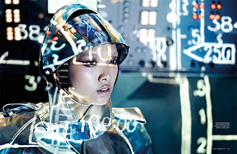Shenzhou06 Grace Guozhi is a Vision of the Future in Vogue Netherlands September 2012 by Marc de Groot