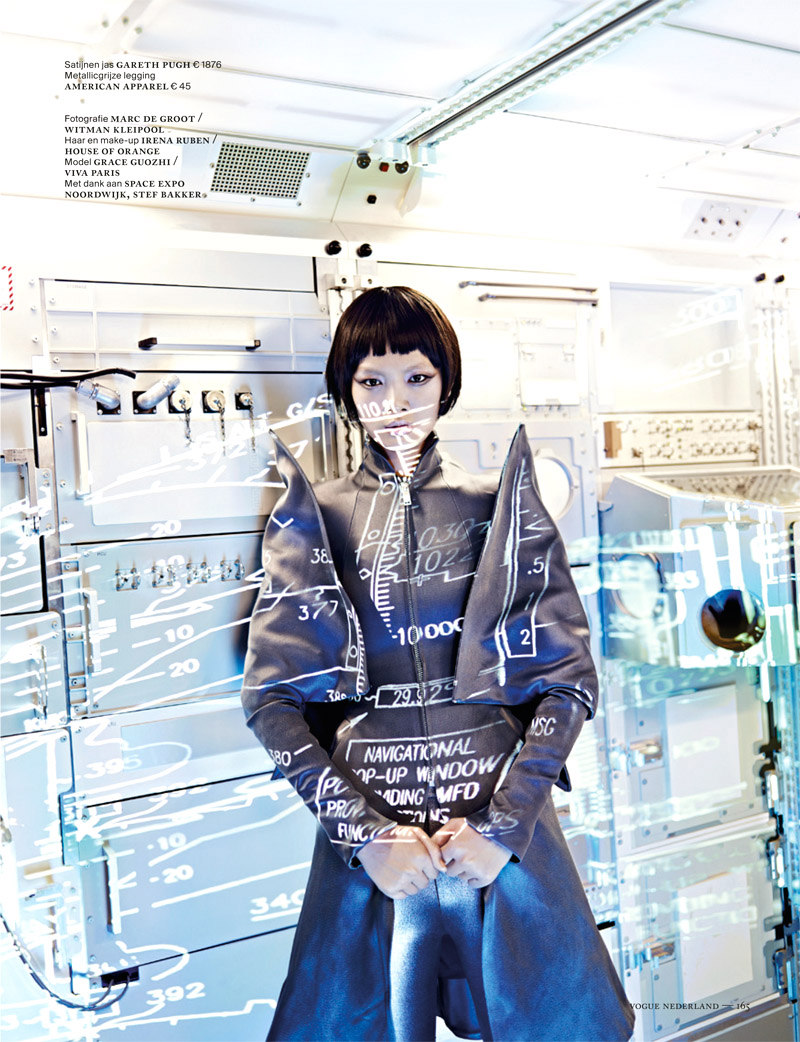 Shenzhou10 Grace Guozhi is a Vision of the Future in Vogue Netherlands September 2012 by Marc de Groot