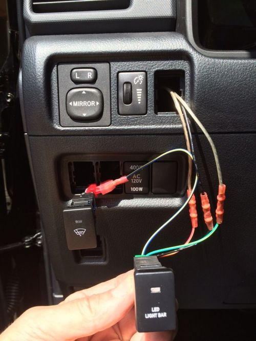 small resolution of led light bar switch