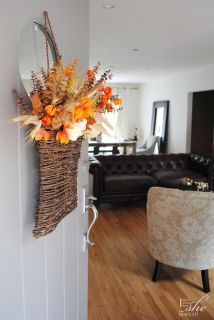 Transitional fall accents for the home. Harvest bouquet.