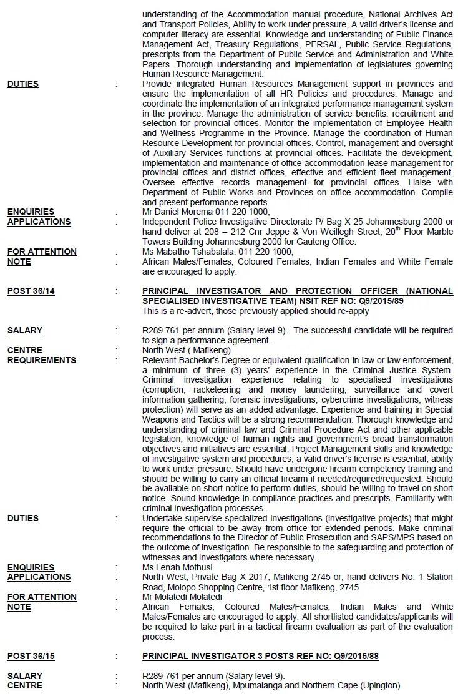 Independent Police Investigative Directorate Circular 36