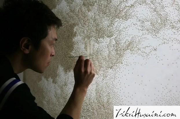 lukisan menggunakan colok,