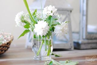 Garden flower gatherings for an arrangement