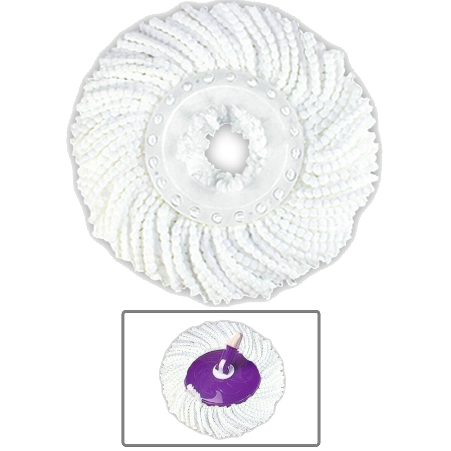 Professional Cotton Replacement Mop Head For Rotary Spin