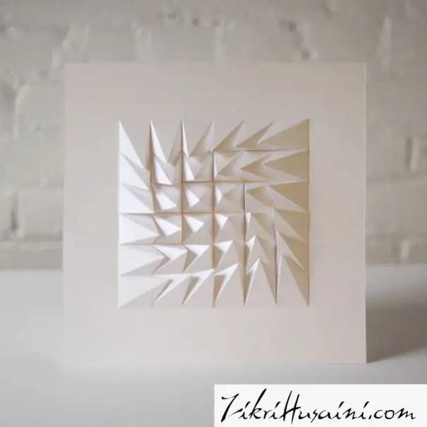 hasil seni kertas geometric