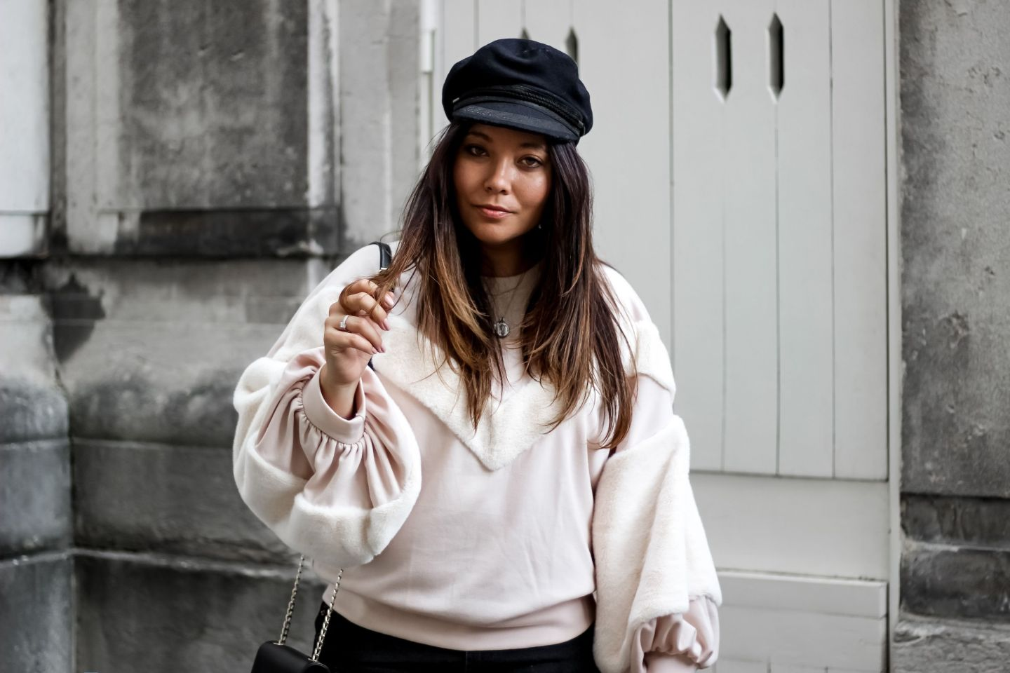 blog mode, blogueuse mode, the green ananas, shein, zara, casquette st james, sac lou sandro, boots cloutés femme, boots oucles femme, boots femme, sweater, love boots, casquette marin