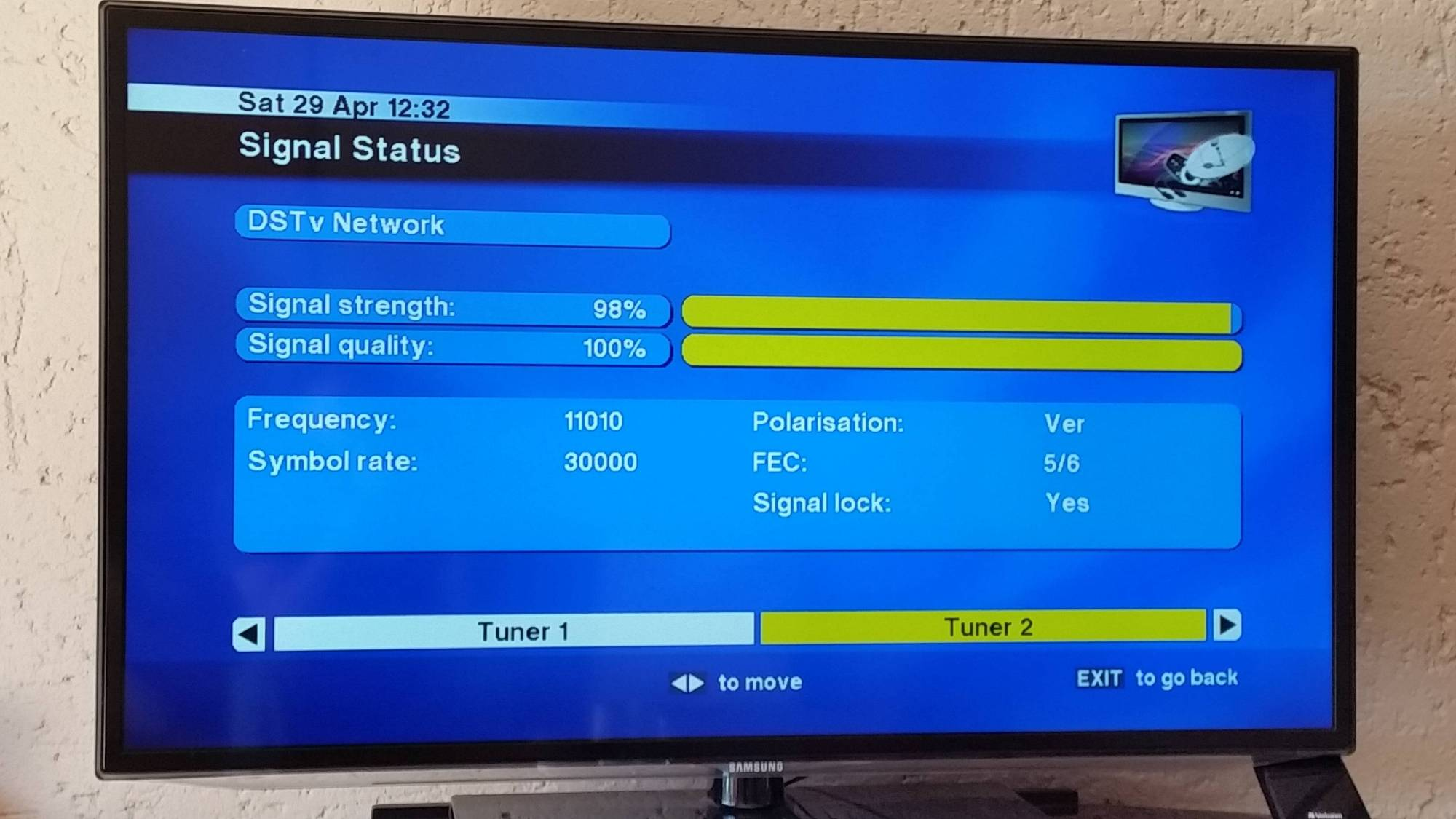 hight resolution of i did the connection without the heartbeat cable and i m getting very good signal on tuner2 but nothing on tuner1