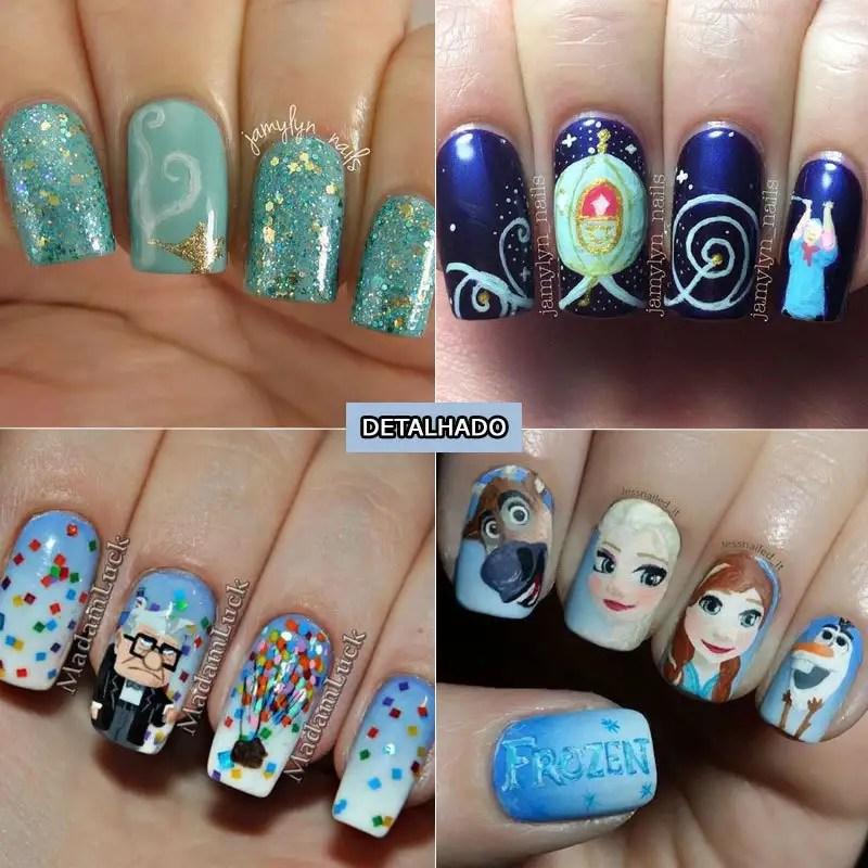 Só me diz... como não morrer de amor por estas unhas da Disney (nail art)? http://petitandy.com