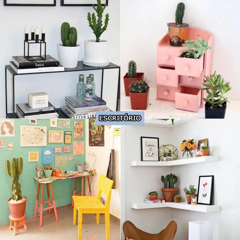 Se você adora cactos, vai adorar nossa seleção! São 4 ambientes com cactos na decoração para você se inspirar. http://petitandy.com