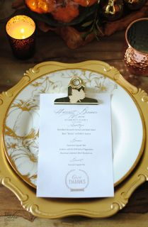 Surprise your guests with these menu decor ideas